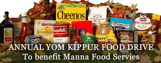 Annual Yom Kippur Food Drive