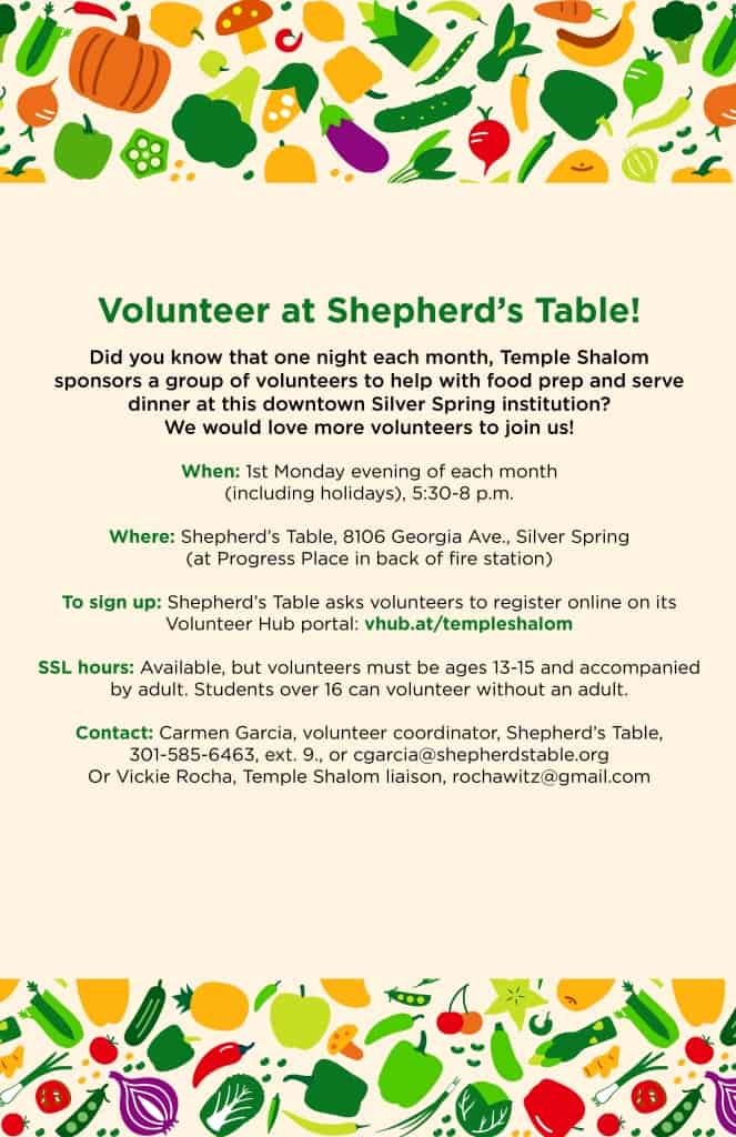 Shepherd's Table Volunteer Opportunity