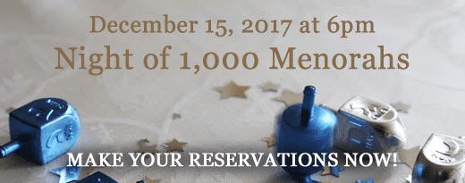 Night of 1,000 Menorahs