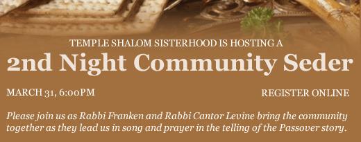 2nd Night Community Seder